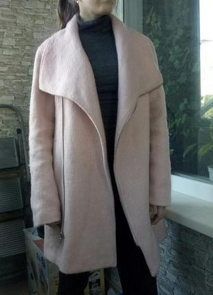 Нежное длинное пальто косуха от new look4