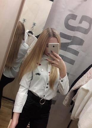 Школьная блуза на девочку 11-12 лет