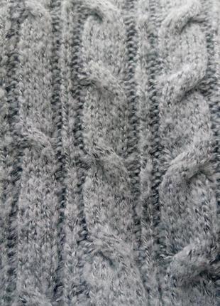 Стильний теплий светер сіро-блакитного кольору atmosphere2
