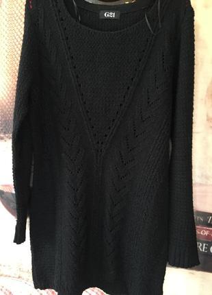 Черный свитерок -туника4