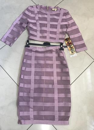 Новорічний розпродаж ! сетчатый бандажный комплект wow couture co-ord4