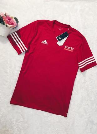 Шикарная новая красная футболка s,m,l с биркой adidas2