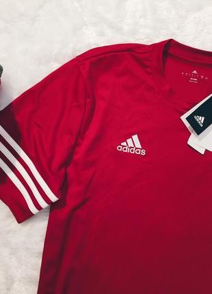Шикарная новая красная футболка s,m,l с биркой adidas4