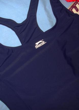 Купальник спортивный в бассейн для большого размера 56 / 22 темно-синий сдельный слитный3