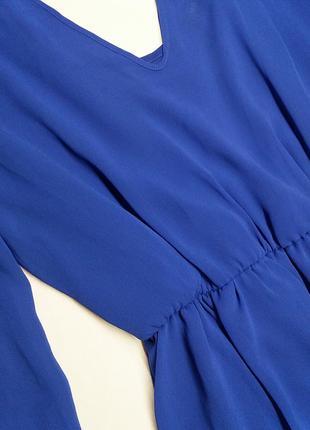 Синее шифоновое платье mangano (сделано в италии), открытая спинка4