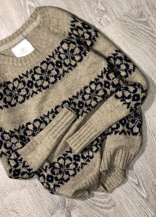 Супер тёплый шерстяной свитерок 💕1