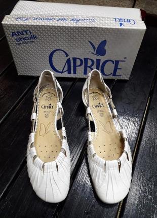 Туфли кожаные сaprice 38.5 размер1
