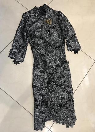 Новорічний розпродаж ! платьеиз кружевацвета металлик club l3