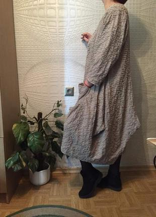 Великолепное трикотажное платье балахон оригинального кроя oversize1
