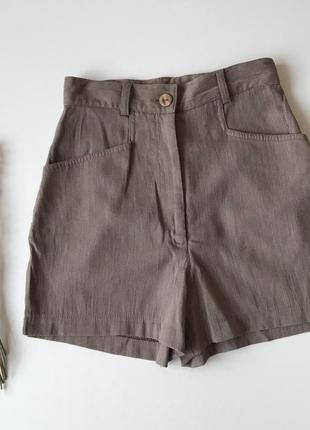 Нюдовые шортики, шорты осень-весну1
