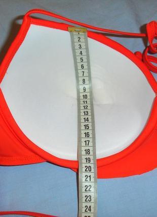 Верх от купальника раздельного топ лиф бюст чашка 85 d dd оранжевый с пуш-ап воланом5