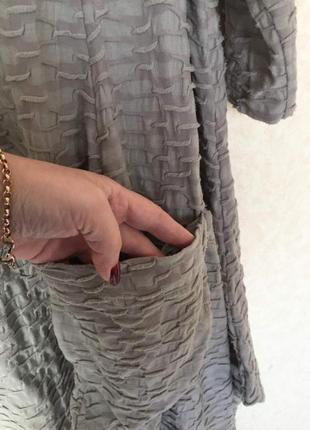 Великолепное трикотажное платье балахон оригинального кроя oversize3