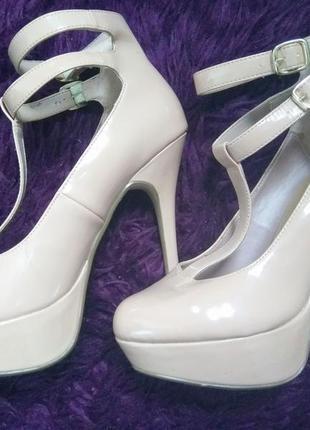 Бежевые туфли new look2