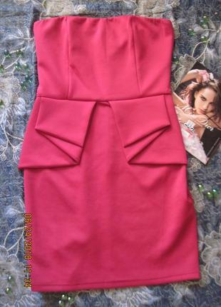 Новогодний наряд!яркое нарядное платье-бюстье с  складками на поясе всего за 199 грн!1
