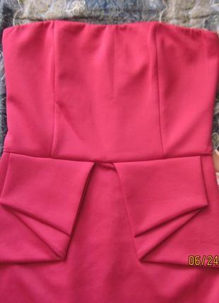 Новогодний наряд!яркое нарядное платье-бюстье с  складками на поясе всего за 199 грн!2
