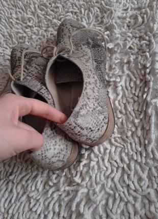 Кожаные туфли размер 381