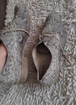 Кожаные туфли размер 383
