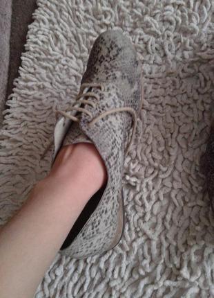 Кожаные туфли размер 384