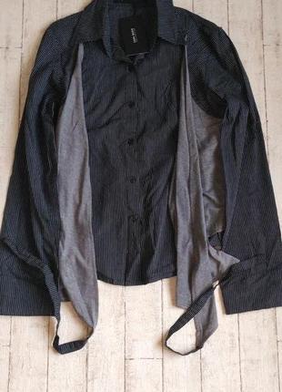 Льняная рубашка в полоску с жилеткой бренда zara3