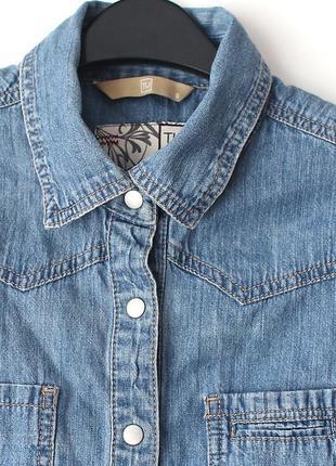 Отличная приталенная джинсовая рубашка • р-р s, можно и на xs3