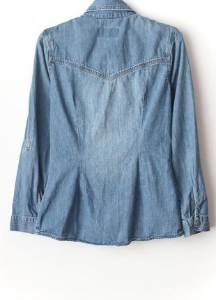 Отличная приталенная джинсовая рубашка • р-р s, можно и на xs4