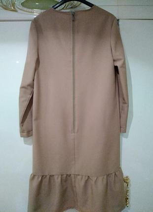 Платье миди, платье с воланом2