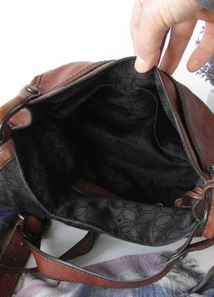 Крутая сумка кроссбоди fossil, сша, натуральная кожа5
