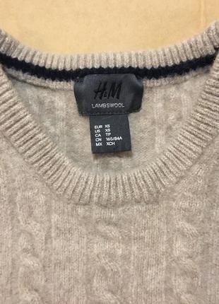 Очень мягкий и нежный шерстяной свитер с косами от h&m4