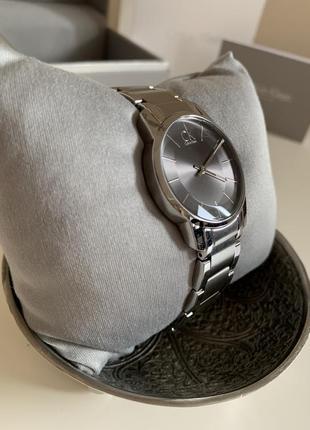 Стальные оригинальные часы calvin klein. распродажа !!!
