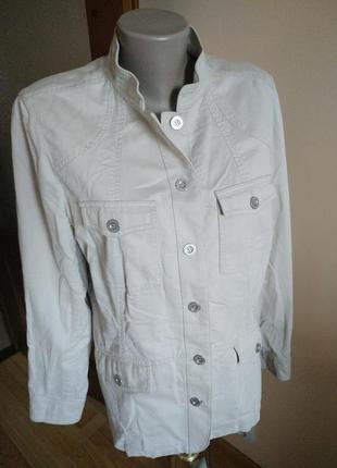 Светлая курточка пиджак большого размера 16(xxl) debenhams!!скидка-15%1