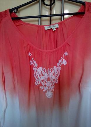 """Креативная эко-блуза вышиванка """"градиент"""", ткань модал4"""