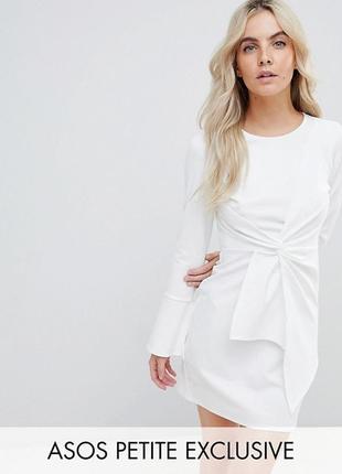 Неопреновое платье с рукавами клеш asos,р-р 61