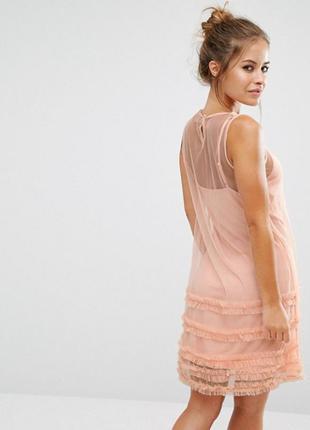 Сетчатое платье с оборками asos petite2