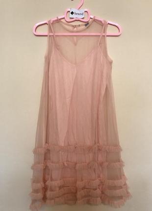 Сетчатое платье с оборками asos petite4