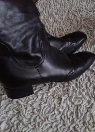 Кожаные сапоги размер 38 по стельке 25 см1