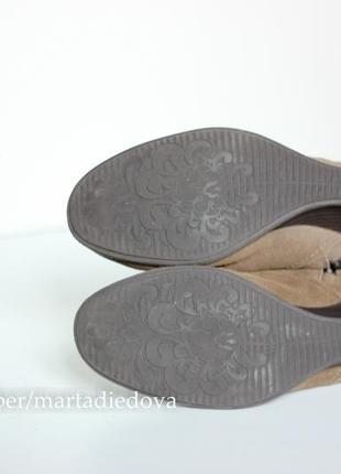 Кожаные замшевые ботинки ботильоны, бренд clarks, линия softwear, технология goretex5