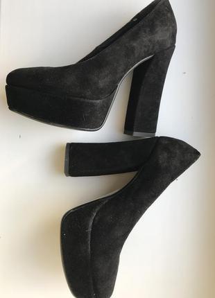 Туфли с натуральной замши1
