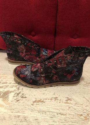 Фирменные ботинки на широкую ножку 42р./27-27,5 см1