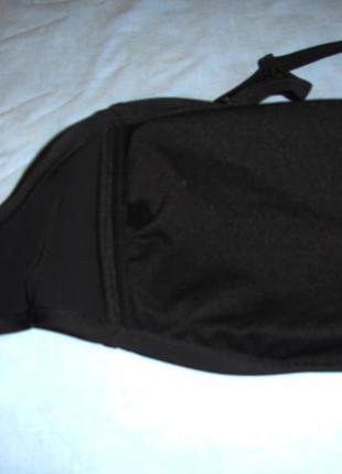 Верх от купальника раздельного топ лиф бюст чашка 90-95 в черный бандо на большой объем2