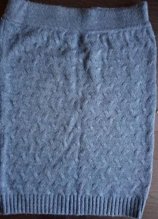 Теплый комплект кофта и юбка шерсть!4