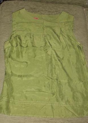 Шикарная изумрудная блуза шелковая 100% шелк monsoon /размер l2