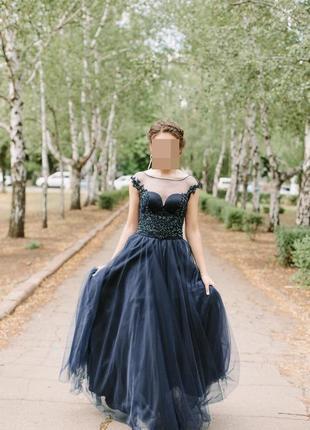 Шикарное выпускное вечернее платье5