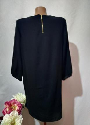 Черное, легкое, свободное платье2