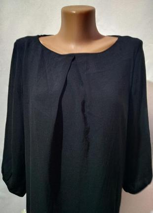 Черное, легкое, свободное платье5