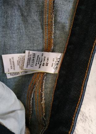 Плотные джинсы с высокой посадкой от m&s 20р4