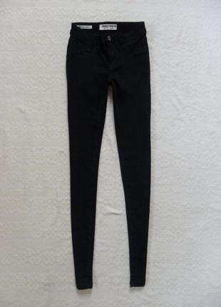 Стильные черные джинсы скинни tally weijl, 4-6 размер.1