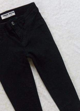 Стильные черные джинсы скинни tally weijl, 4-6 размер.3
