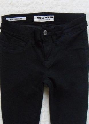Стильные черные джинсы скинни tally weijl, 4-6 размер.5