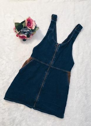 Шикарный джинсовый комбез(комбинезон юбка) xs-s,m размер идеал!2