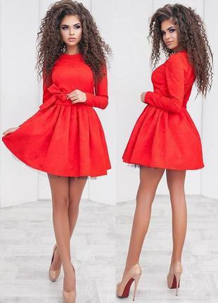 Нарядное красное платье (все размеры и расцветки)1